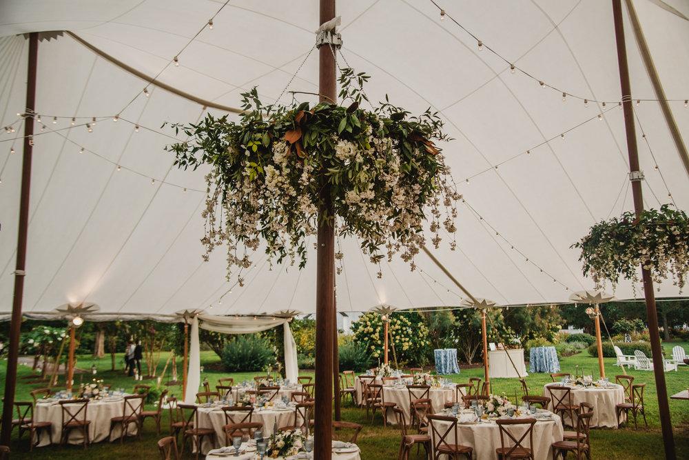 Maryland Wedding, Tent Wedding, Entrance Decor, Greenery Wedding, White Flowers, NJ Florist, Inn at Perry Cabin, Maryland Bride, Tyler Boye Photography