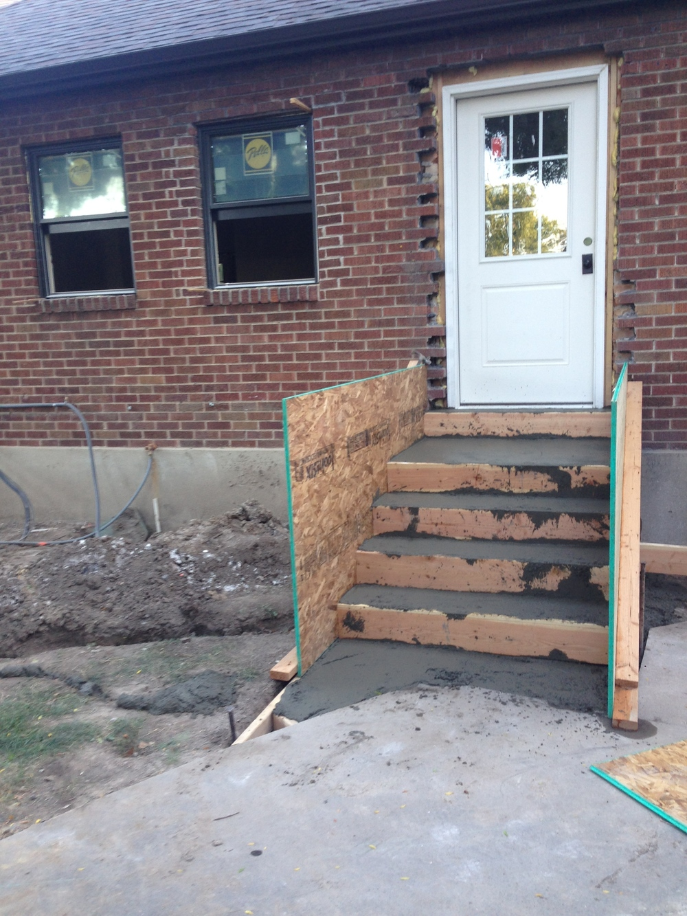 When I relocated my internal stairway, I also moved the entrance from the side to the back
