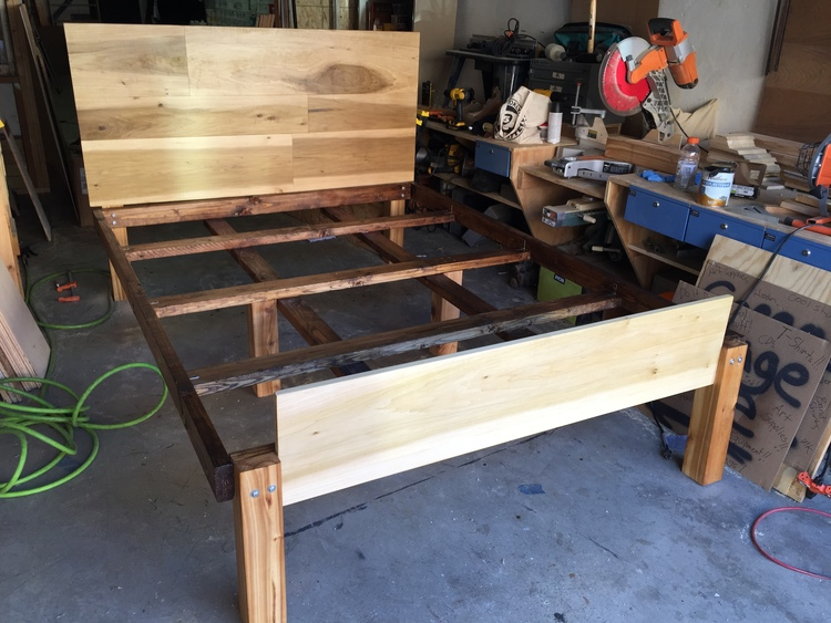Framing Is Pine With Steel Bracketing Cedar Posts And A Poplar Footboard All Wood Was Locally Sourced The Frame Hand Crafted At Cathartic