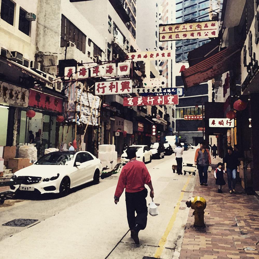 Walking Around Sheung Wan Looking For Professor Chang's Flat