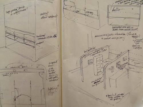 Rough plans for the Commonfolk Studios -  Sarah Dingwall