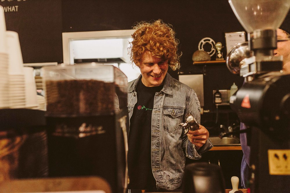 Besty whipping up some tasty ZB espresso's