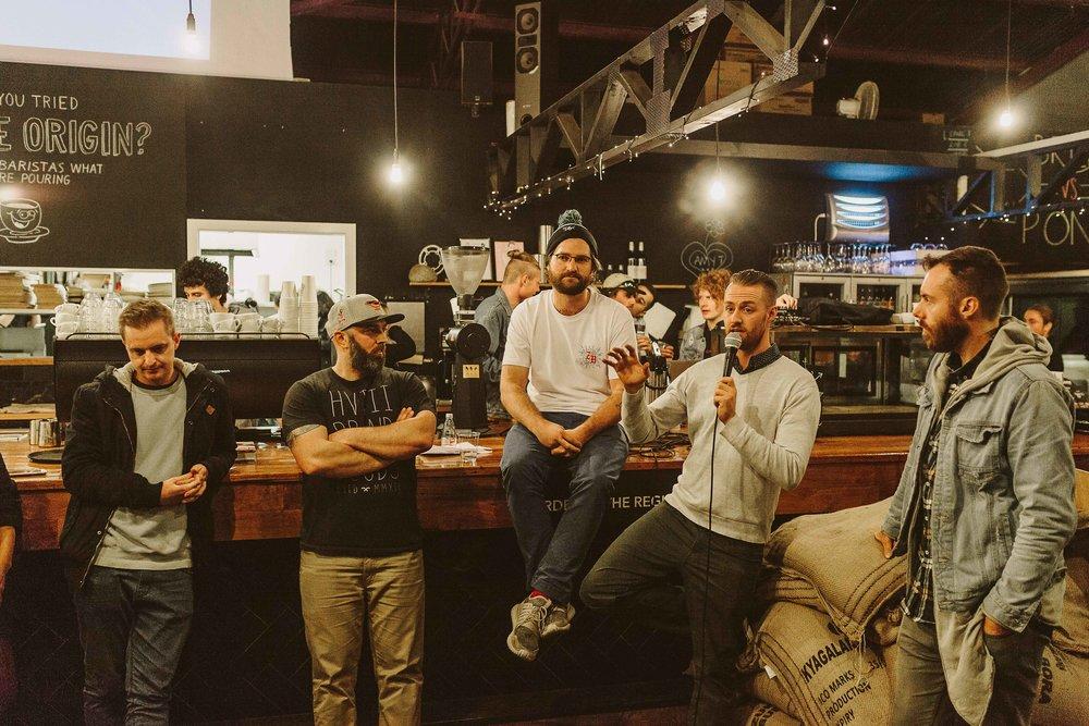 Tony, Caleb, Sam, Ryan and Marichi discuss sustainability in coffee