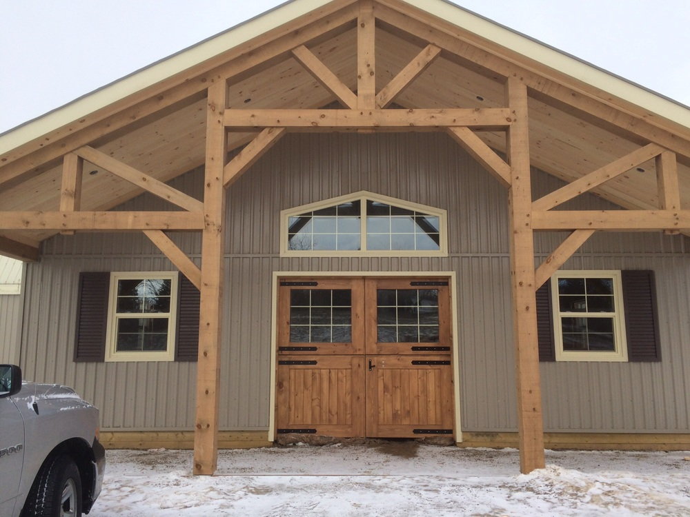 Willow Way Farm's new main entrance.