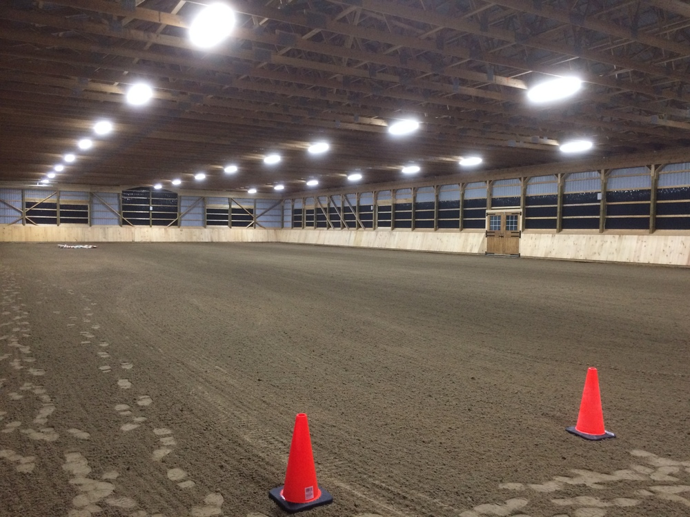 The larger indoor arena, measuring 200' by 84'.