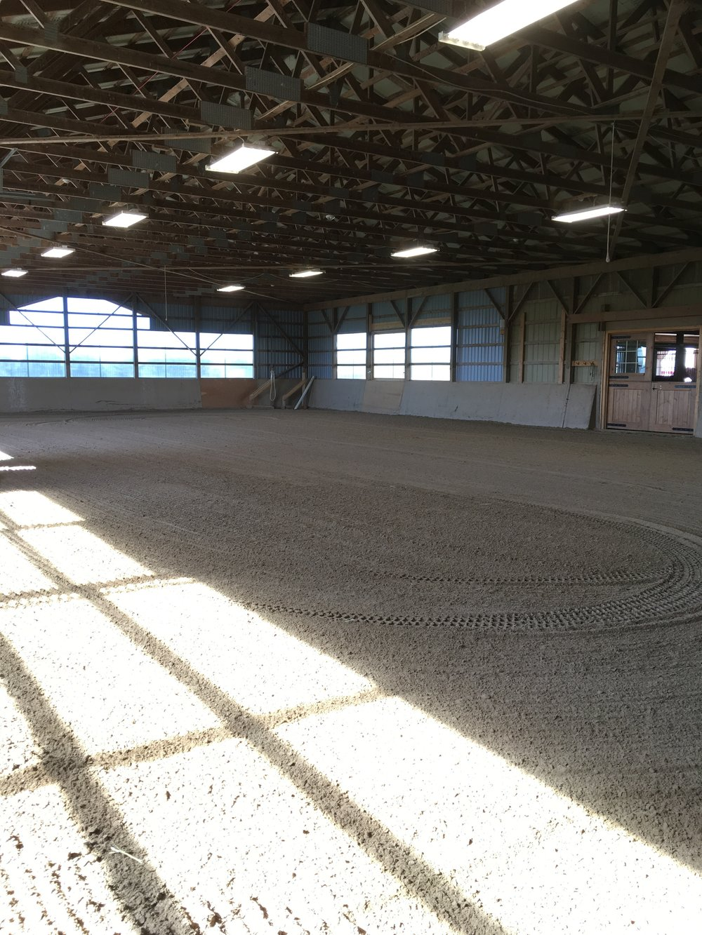 The second indoor arena, measuring 104' by 60'.