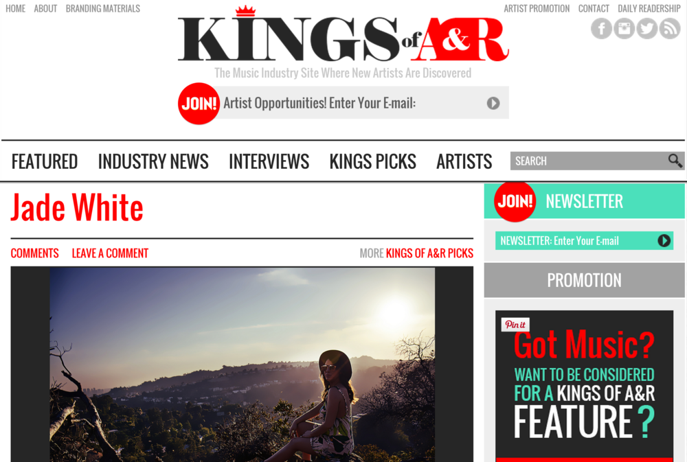 Jade White Featured on Kings of A&R