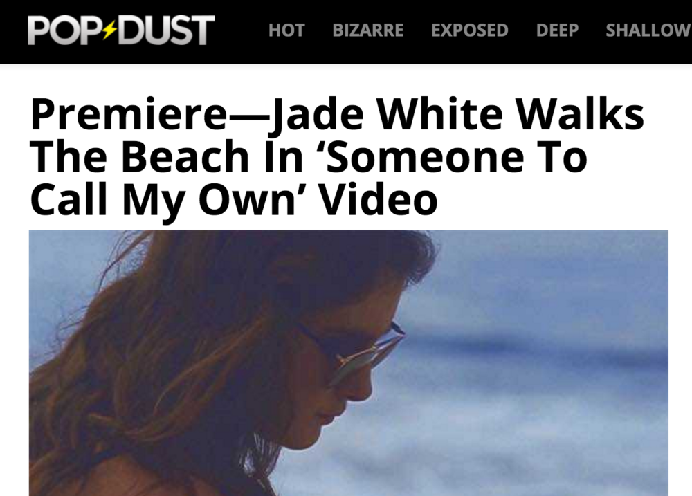 "PopDust Premieres ""Someone to Call My Own"" Music Video"