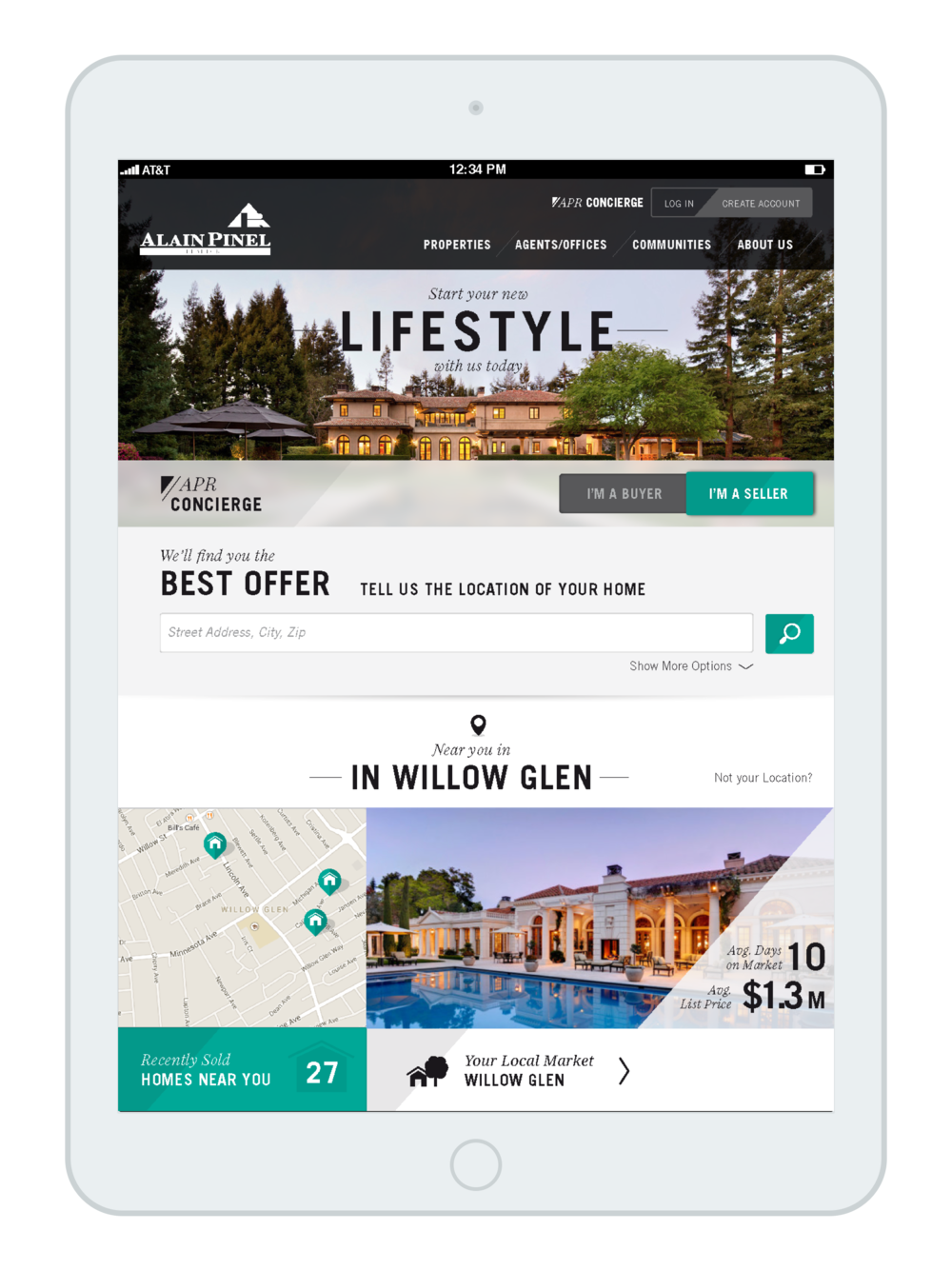 Luxury Real Estate - Tablet & Desktop
