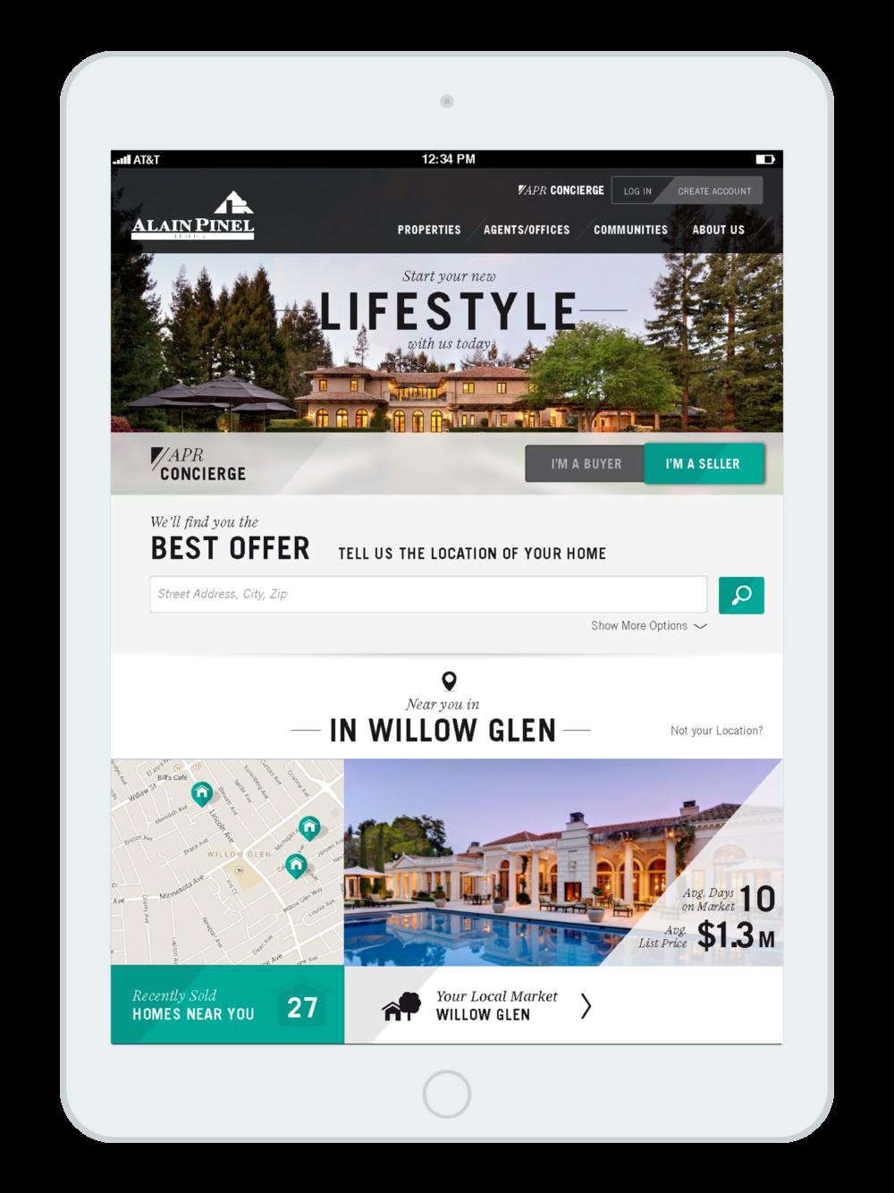 Luxury Real Estate - Tablet & Desktop