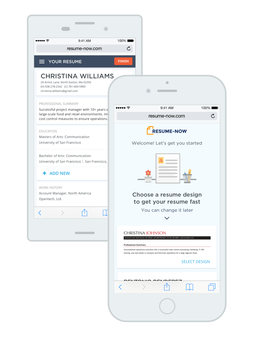 Resume Builder - Mobile Web