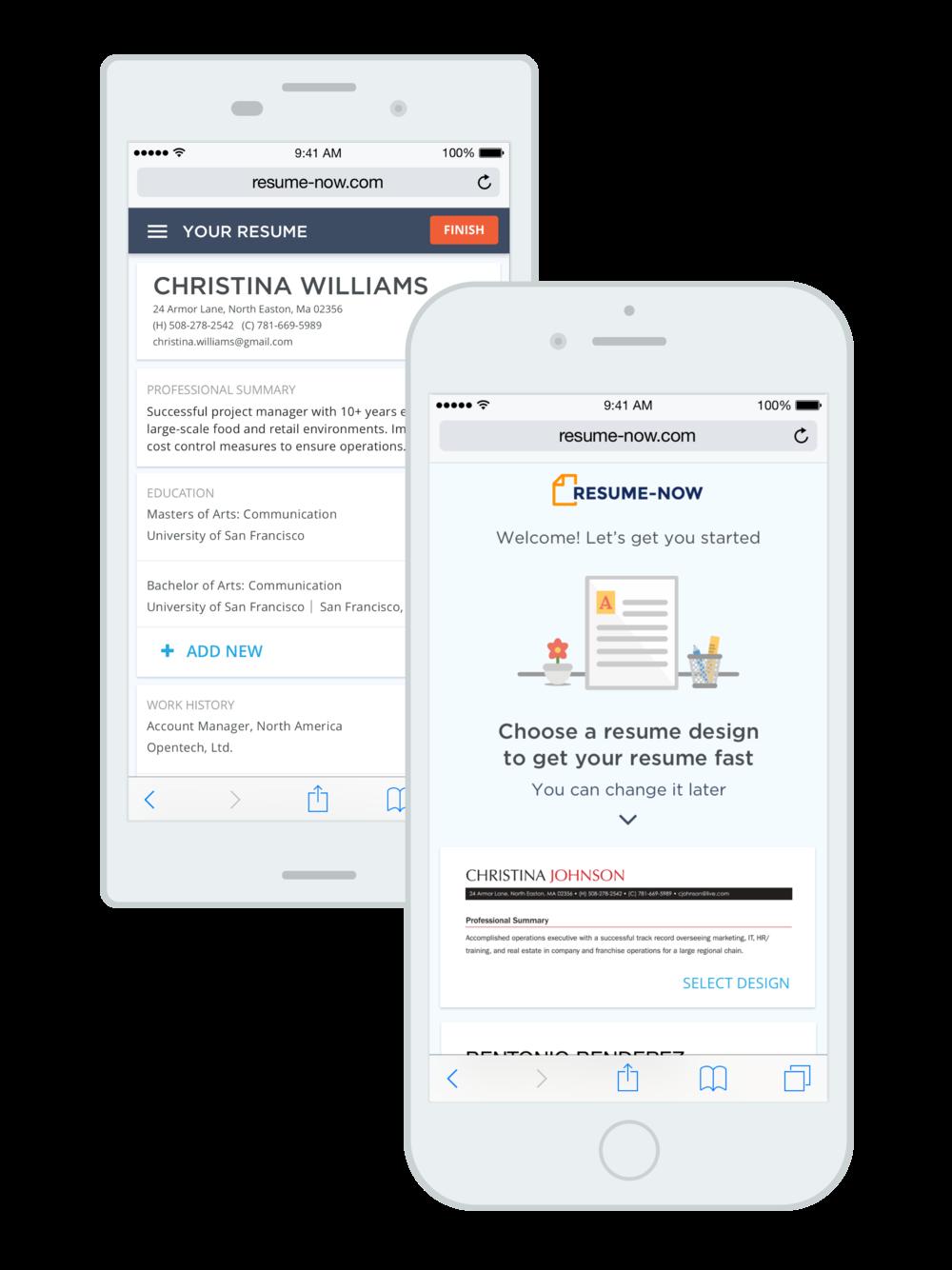 Resume Builder - Mobile Web