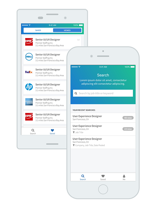 Mobile Job Search - iOS & Android
