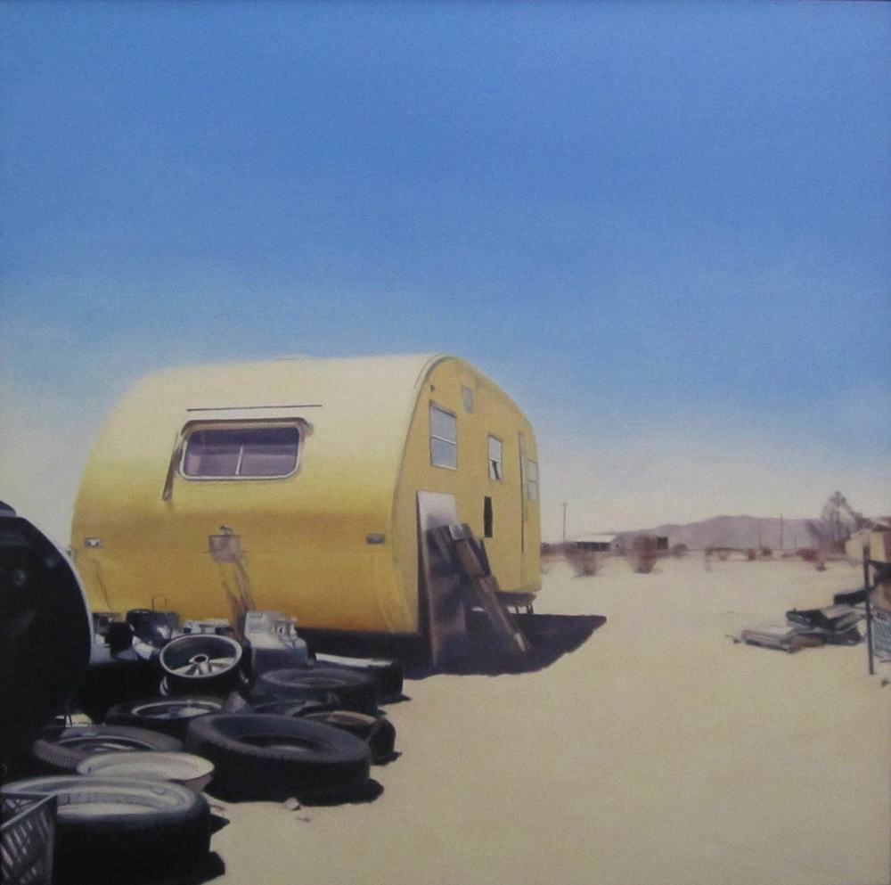 Deborah Martin Yellow Trailer, 2011 Oil on canvas 48 x 48""