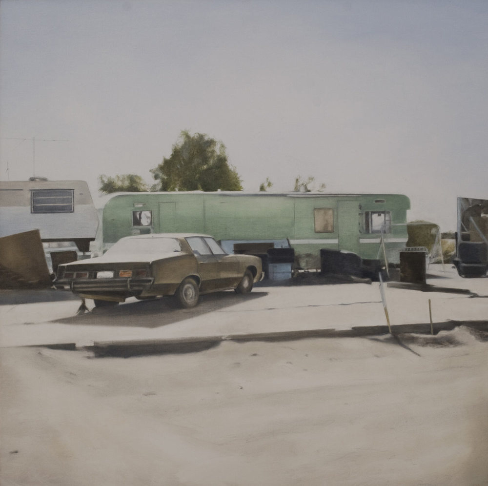 Green Trailer, 2009 Oil on canvas 36 x 36 inches