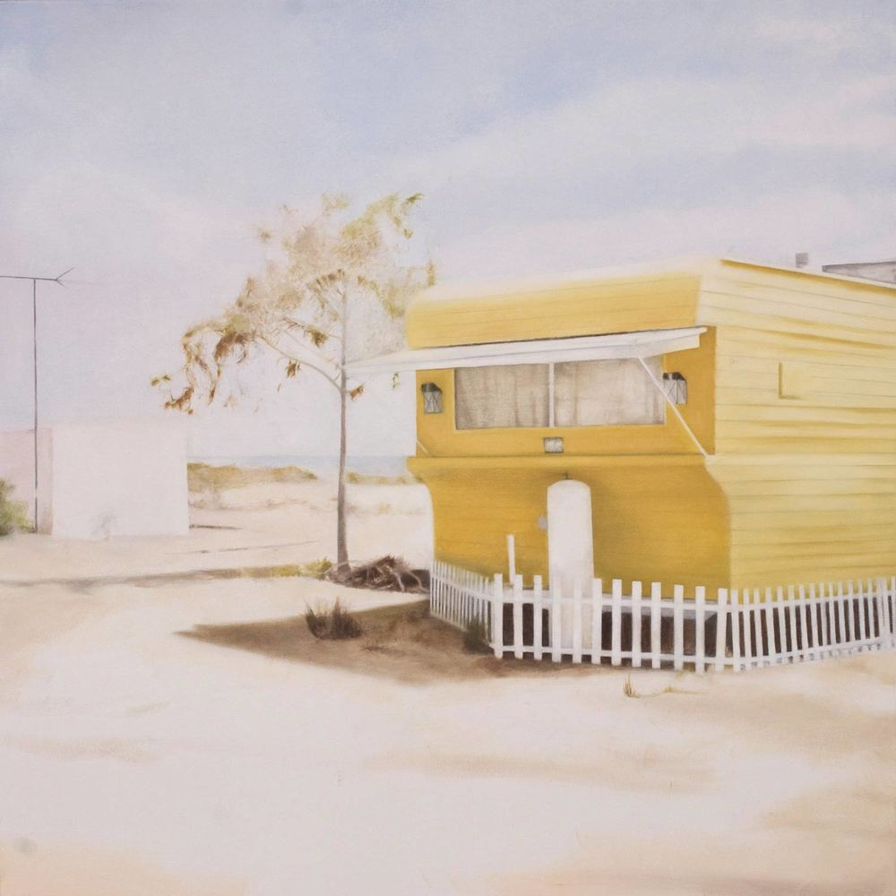 Yellow Camper. 2009 Oil on canvas 36 x 36 inches