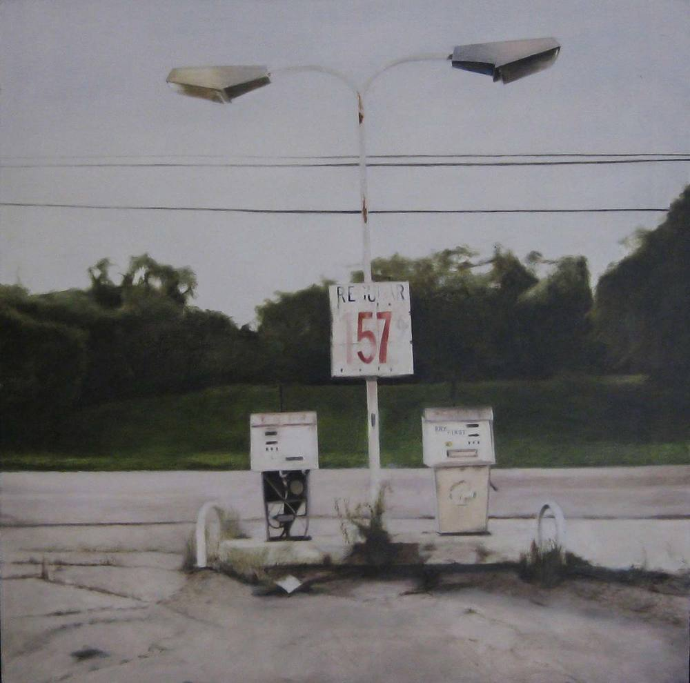 Regular 157, 2009 Phily, Tennessee Oil on canvas 30 x 30 inches