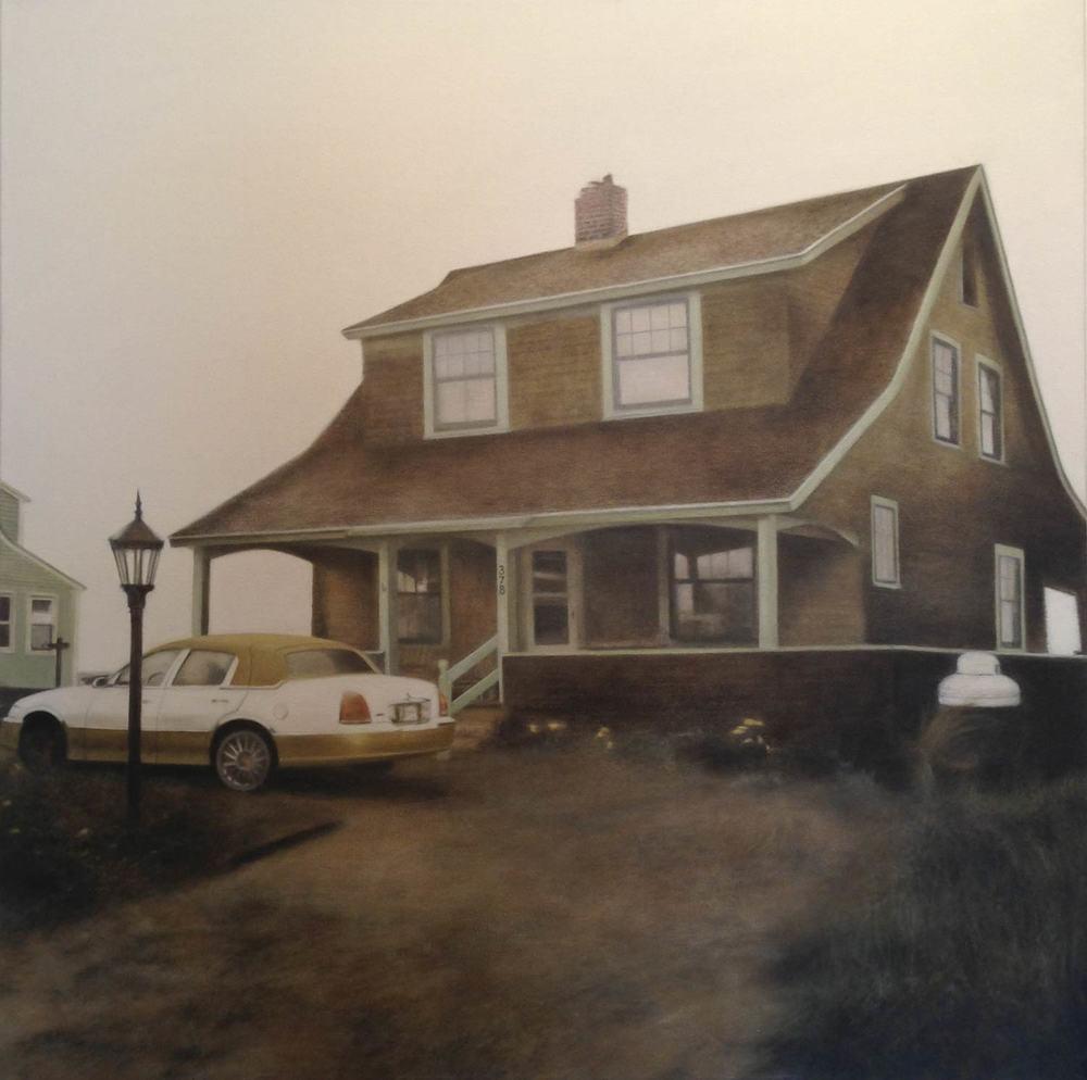378, 2013 Truro, MA Oil on canvas 30 x 30 inches