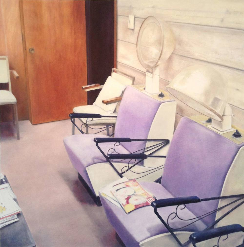 The Salon, 2014 Orleans, MA Oil on canvas 36 x 36 inches