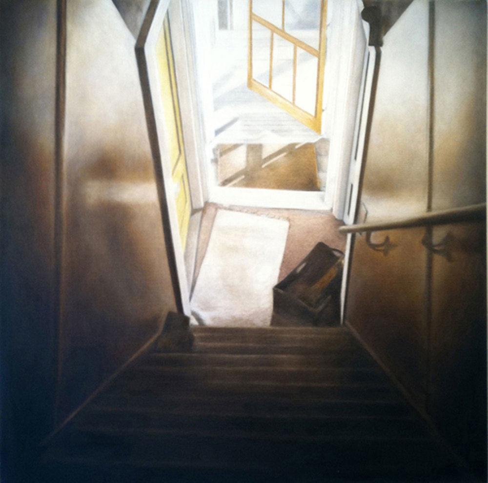 Stairs, 2013 Provincetown, MA Oil on canvas 36 x 36 inches