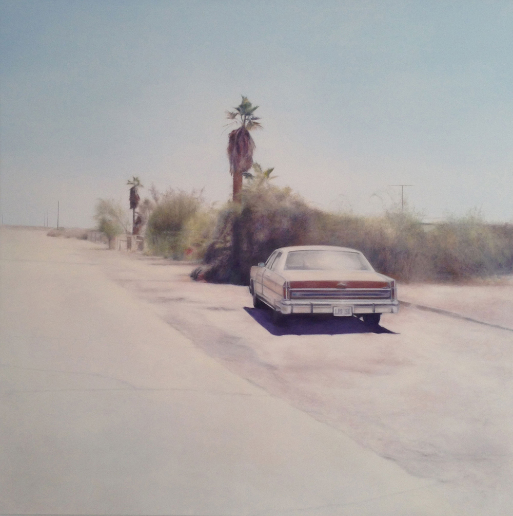 Bombay Lincoln, 2015 Oil on canvas 48 x 48 inches