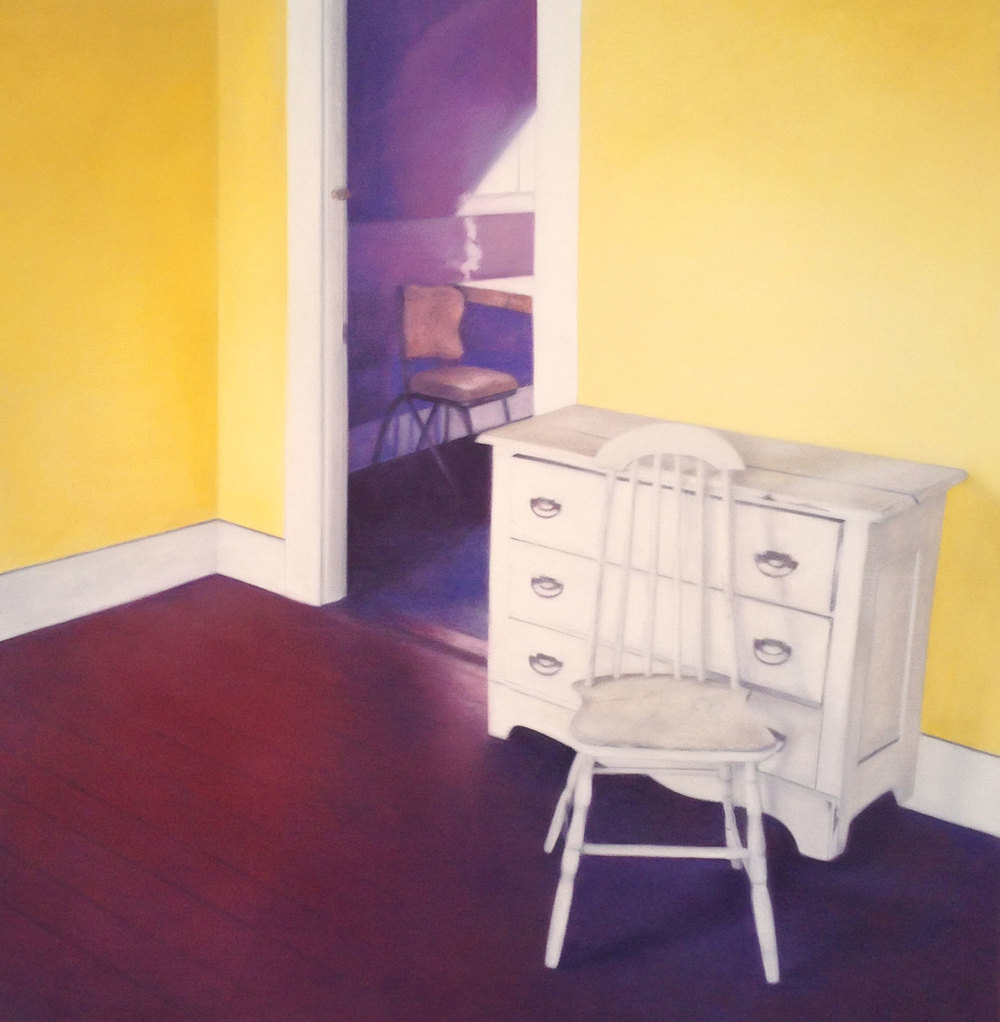 Chair, 2014 Provincetown, MA Oil on canvas 30 x 30 inches