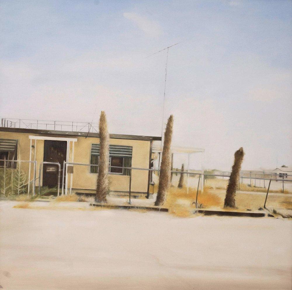 "Four Palms, 2009 Oil on canvas 36x36"""