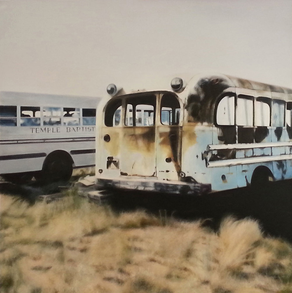 Baptist Bus, 2009 Oil on canvas 36 x 36 inches