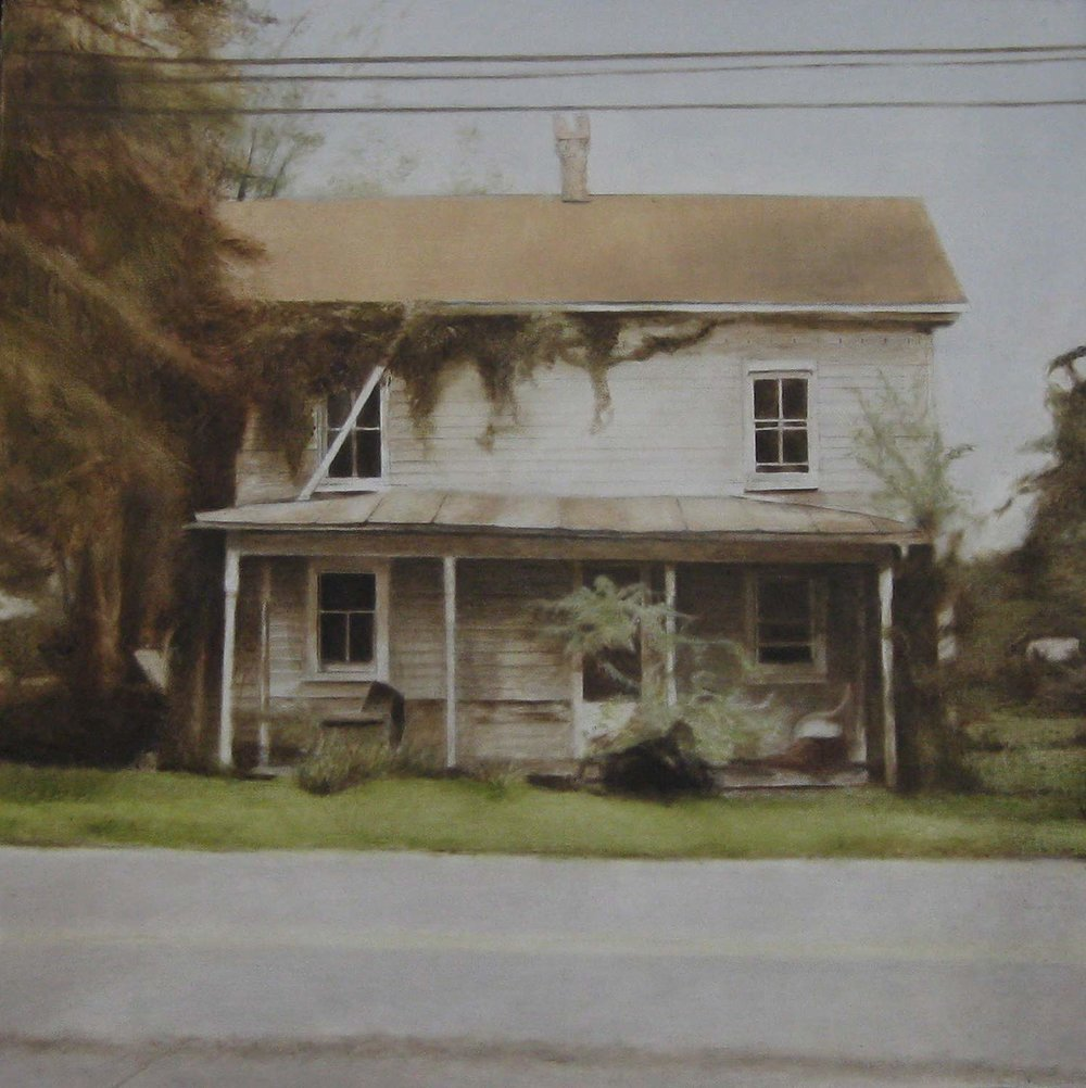 Road House, 2009 Amma, West Virginia Oil on canvas 30 x 30 inches