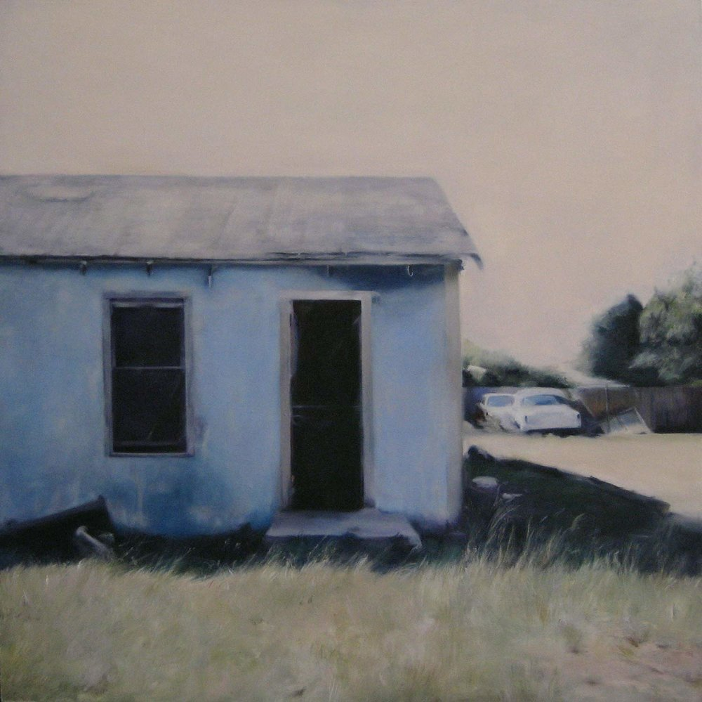 Slaton Blue, 2008 Slaton Texas Oil on canvas 36 x 36 inches
