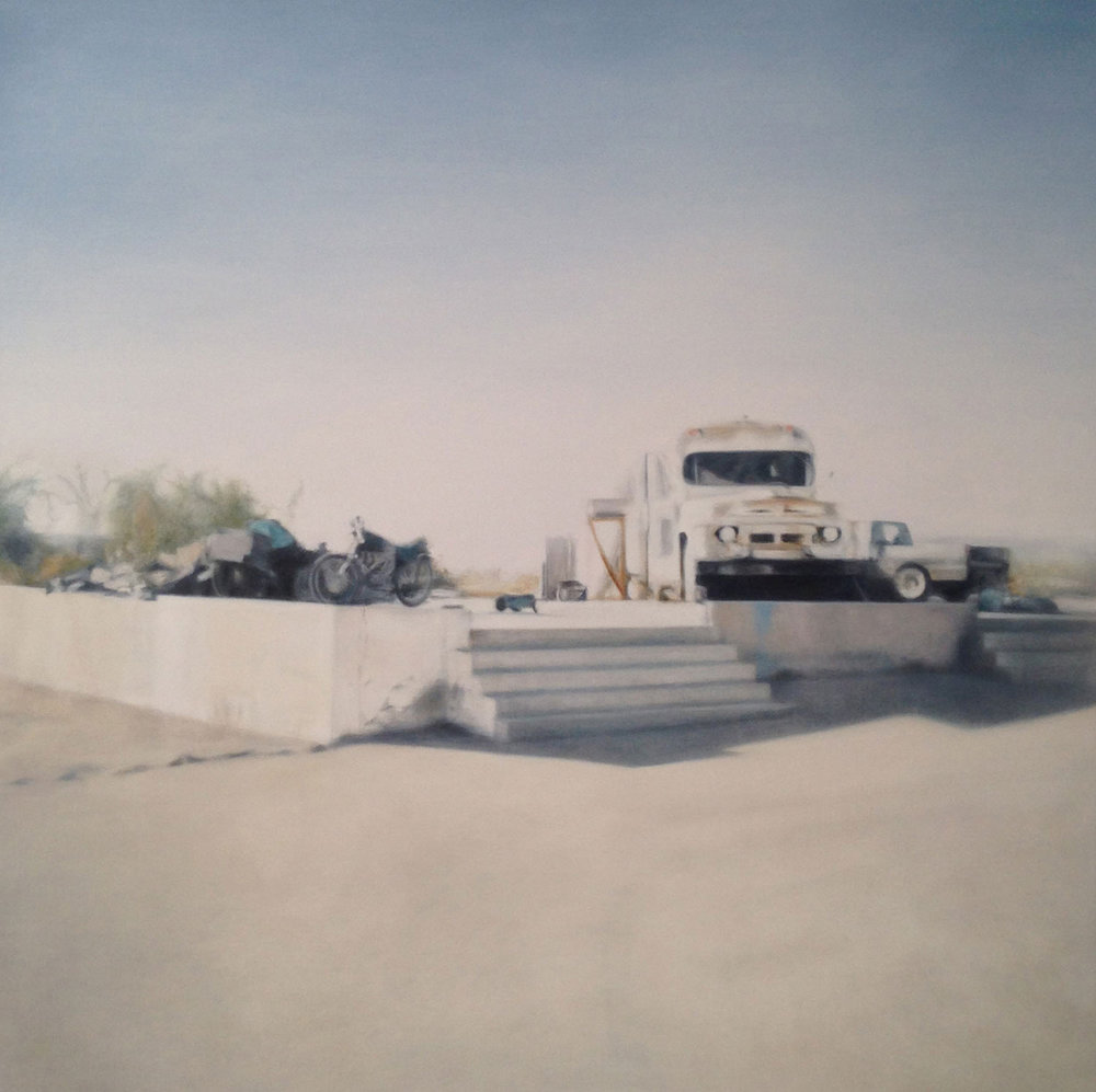 Slab City Steps, 2015 48x48""