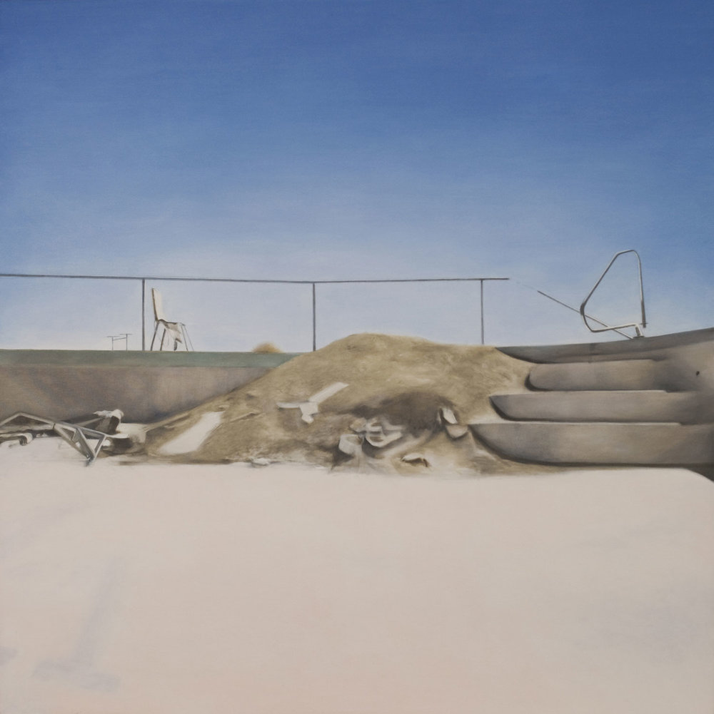 Salton Pool, 2010 Oil on canvas 48x48""