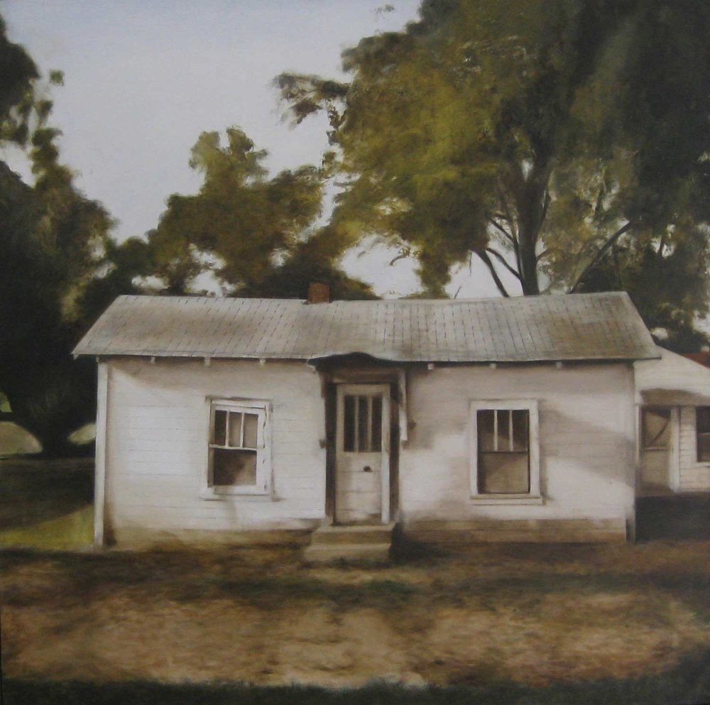 "Deborah Martin Hazen Steps, 2009 Hazen, Arkansas Oil on canvas 36x36"""