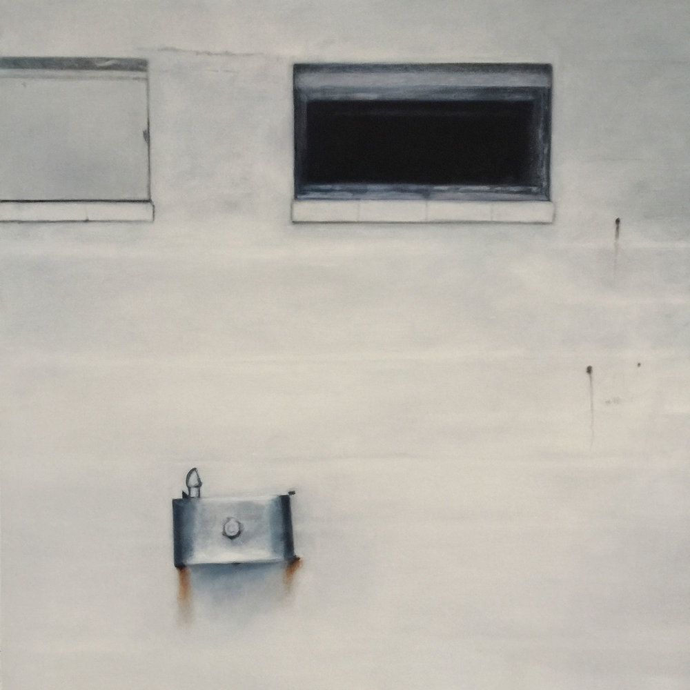 The Water Fountain, 2018 Oil on canvas 32x32""