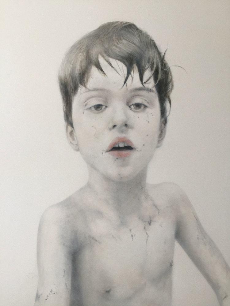 "Deborah Martin, Fine at Nine, 2017 Oil on canvas 42x54"""