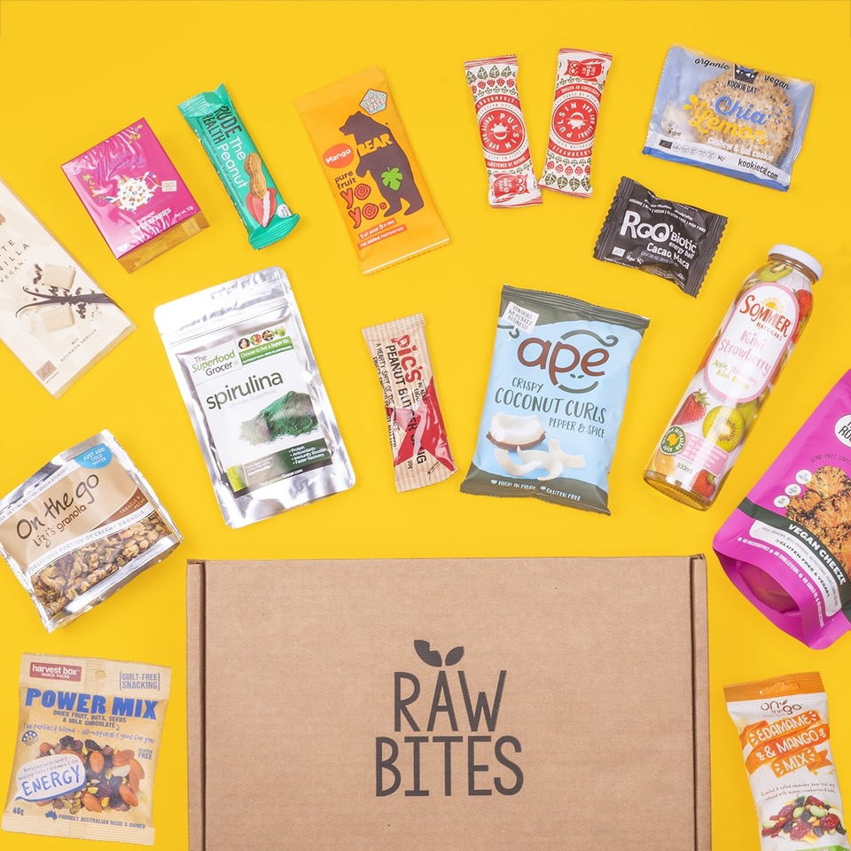 Raw Bites curates healthy snacks and delivers them to your door each month!