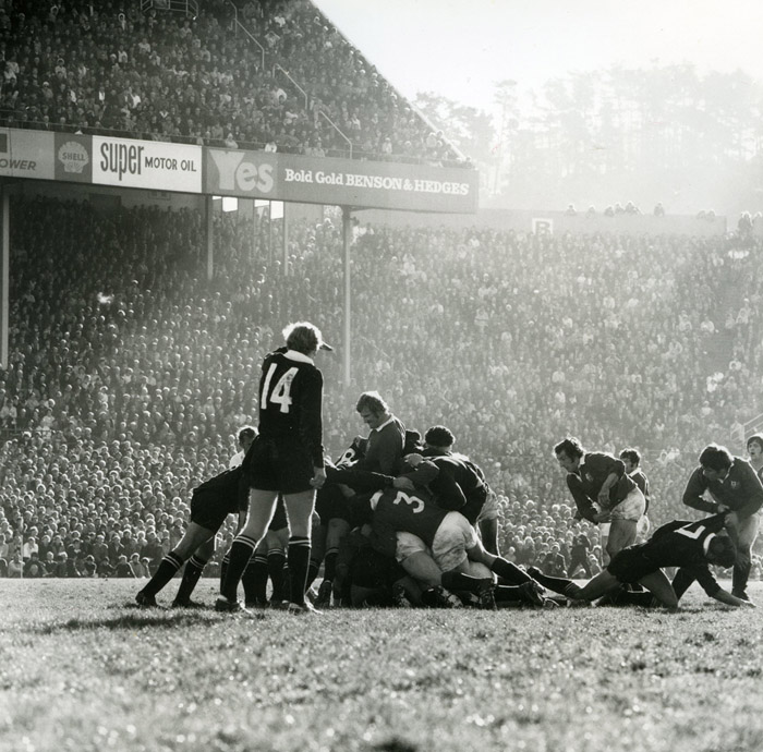 Ans Westra  British Lions versus All Blacks, Athletic Park, Wellington , 1971  Silver gelatin print 280 x 280 mm   _______