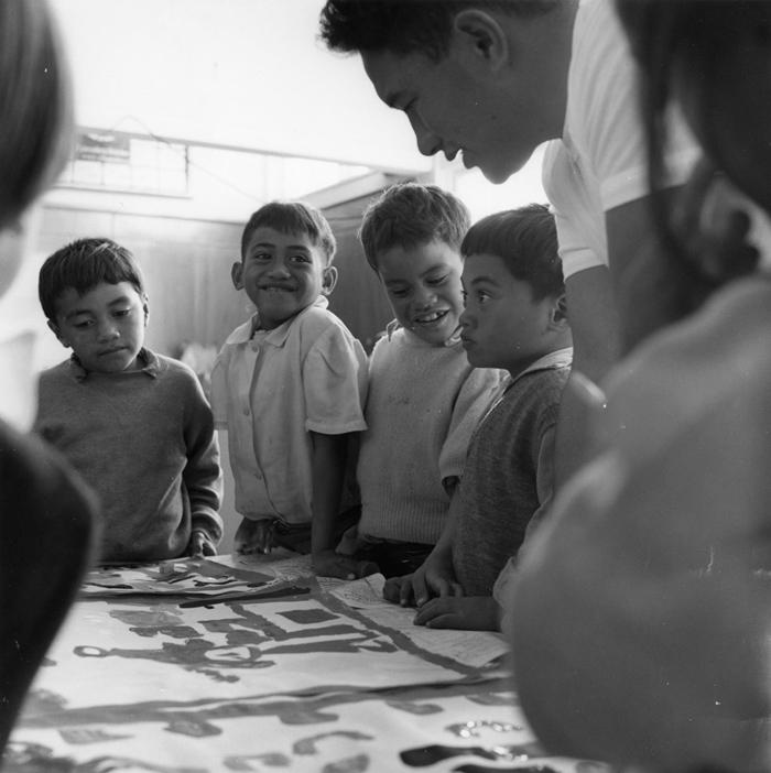 Ans Westra  Parikino Pa School, Whanganui , 1963 Silver gelatin print 280 x 280 mm   _______