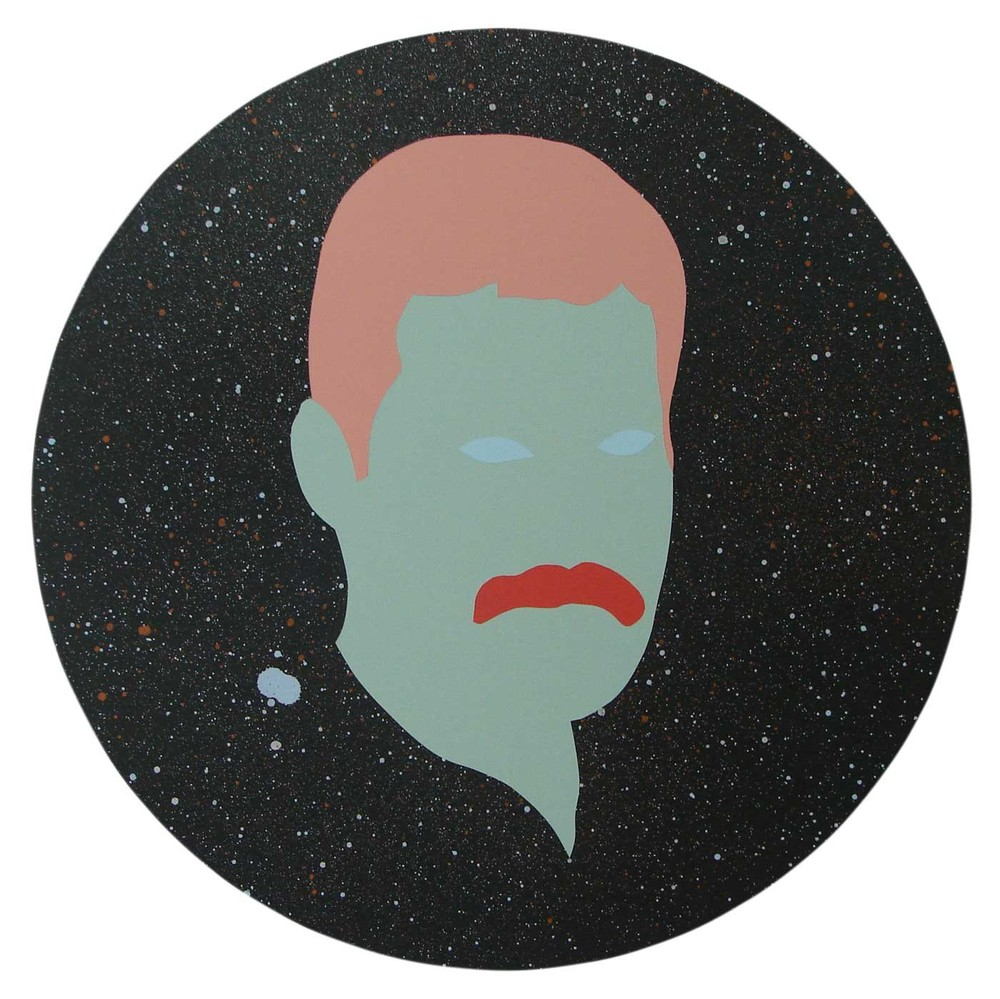 Wayne Youle  Mercury , 2014 Acrylic and enamel on board 437mm diameter [Private collection]   _______