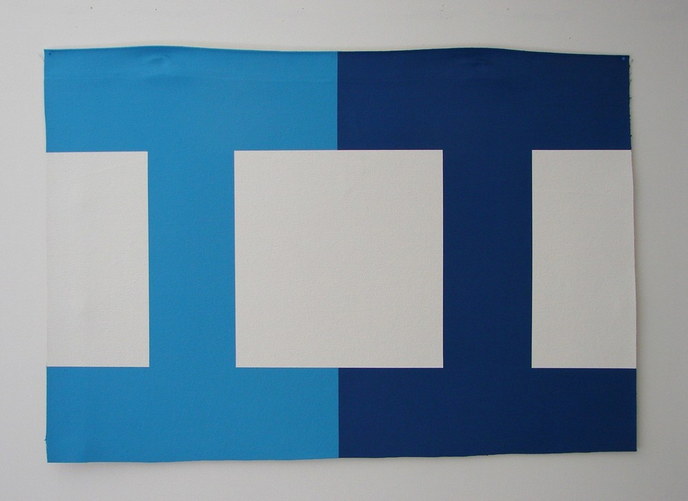 Wayne Youle  Blue Eyes,  2012 Acrylic on un-stretched canvas 620 x 900 mm   _______