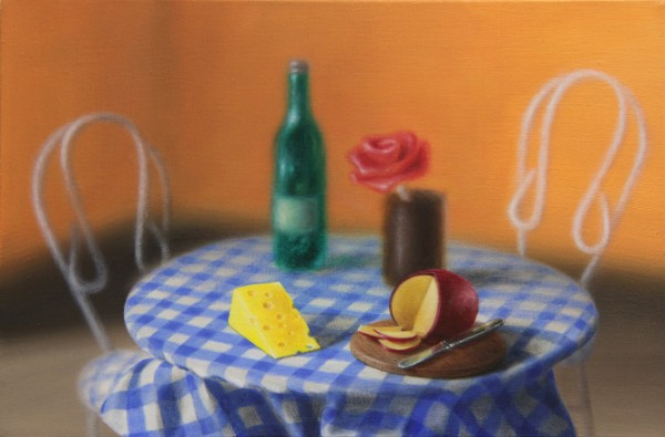 Emily Hartley-Skudder  Romantic Dining Set , 2012 Oil on calico 152 x 228 mm [Private collection]   _______