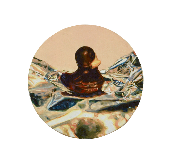 Grace Crothall  Chocolate duck , 2014 Oil on board 200 x 200 mm [Private collection]   _______