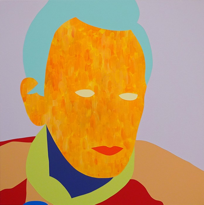Wayne Youle  I was into it until '62 , 2015 Oil and acrylic on linen 600 x 600 mm   _______