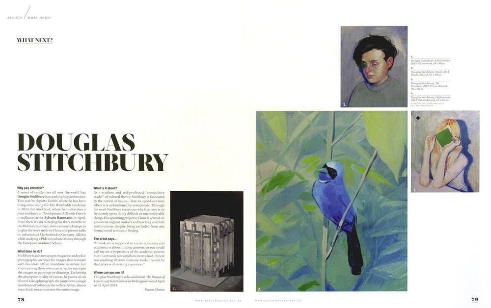 Douglas Stichbury Art Collector Australia, Issue 68, Apr-Jun 2014