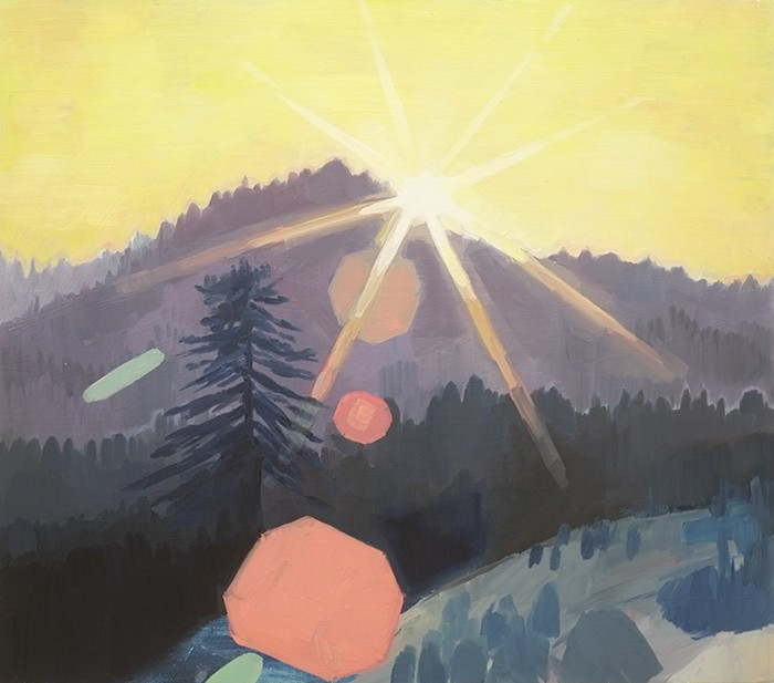 Douglas Stichbury  Lens flare , 2015 Oil on board 525 x 600 mm   _______