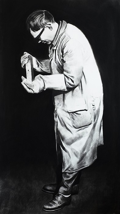 Douglas Stichbury  Miller , 2014 Charcoal on paper 1500 x 800 mm   _______