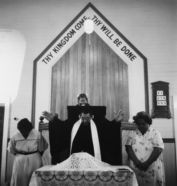 Ans Westra  Sunday church service at Taneatua , 1984 Signed silver gelatin print 265 x 252 mm   _______