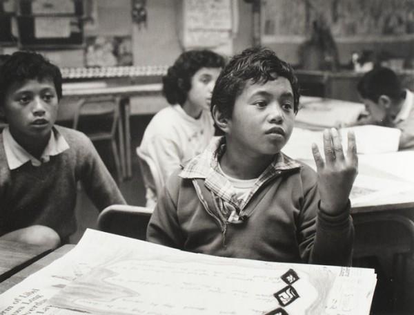 Ans Westra  Tawera School , 1984 Signed silver gelatin print 193 x 253 mm  _______