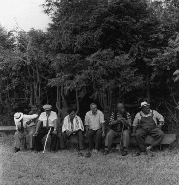 Ans Westra  Ringatu Hui, Ruatoki , 1963 Signed silver gelatin prin 180 x 175 mm  _______