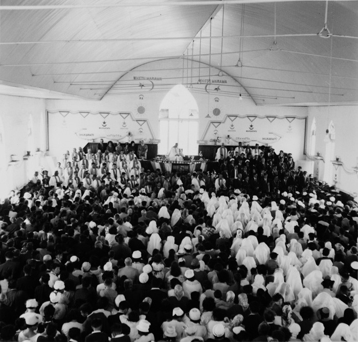 Ans Westra  January 25th Celebrations, Temple, Ratana Pa , 1963  Framed signed silver gelatin print  145 x 148 mm   _______